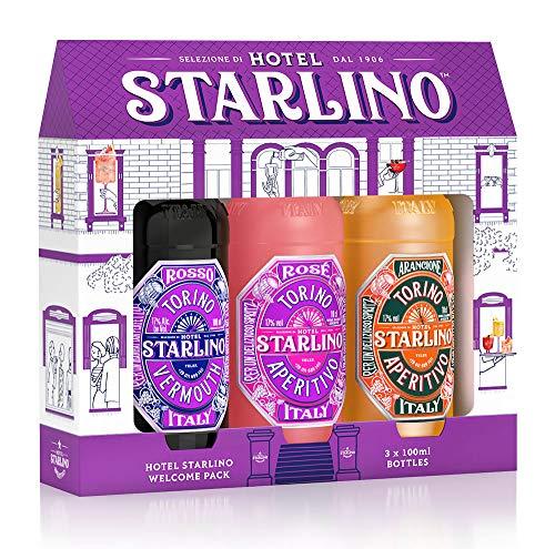 Starlino Aperitivo Geschenkset 3x10cl 17% Vol - Original Italienische Weinaperitife aus Turin für köstliche Cocktails und Spritz Drinks - ideal als Geschenk (3x10cl Flasche)