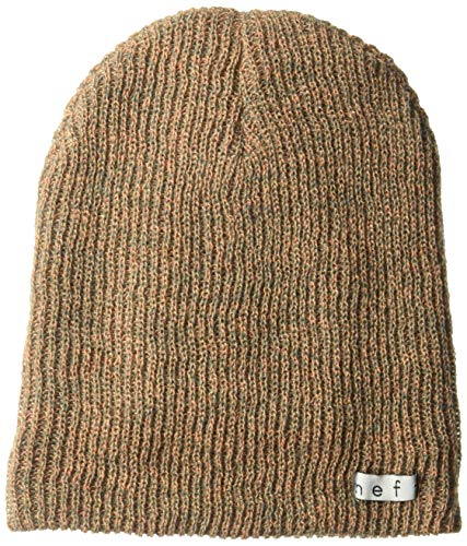 NEFF Daily Heather Beanie Hat for Men and Women, Apricot/Grey, One Size