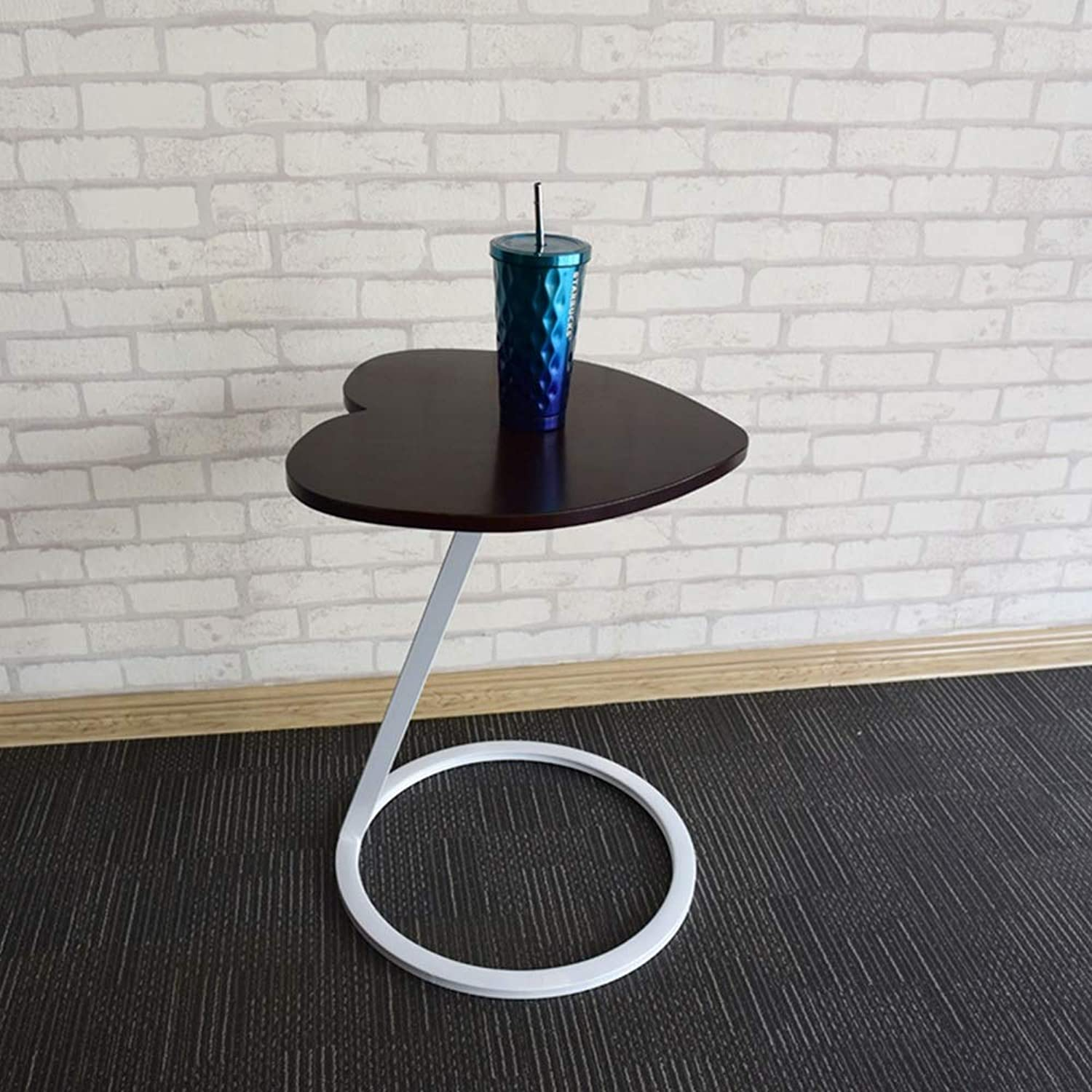 ZR Solid Wood Coffee Table Side Table corner A Few Moving Angles On The Wrought Iron Side  Wall decoration (color   White)