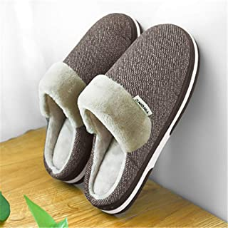 LLDKA Pantoufles intérieur Sensuel Facile Chaussons, Pantoufles Non collectrices d'hiver de Chaud Chaud épais pour Hommes ...