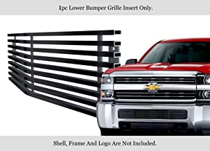 APS Compatible with 2015-2019 Chevy Silverado 2500HD Stainless Black Bumper Billet Grille C66319J