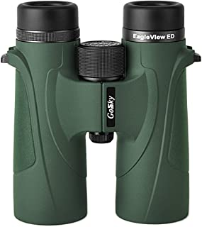 Gosky EagleView 10x42 ED Binoculars for Adults, Professional ED Glass Waterproof Binoculars for Bird Watching Travel Starg...