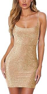 4f3ac4775cc Zyyfly Doramode Women s Adjustable Strappy Split Deep V Neck Summer Beach  Casual Midi Dress