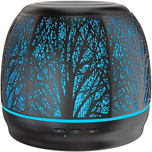 Best Rated Diffusers for Essential Oils, Premium Iron Aromatherapy Diffuser with Large 500mL Water Tank for Home, Office, Kitchen, & Baby Room Air Oil Ultrasonic Humidifier with 7 Color LED Lights