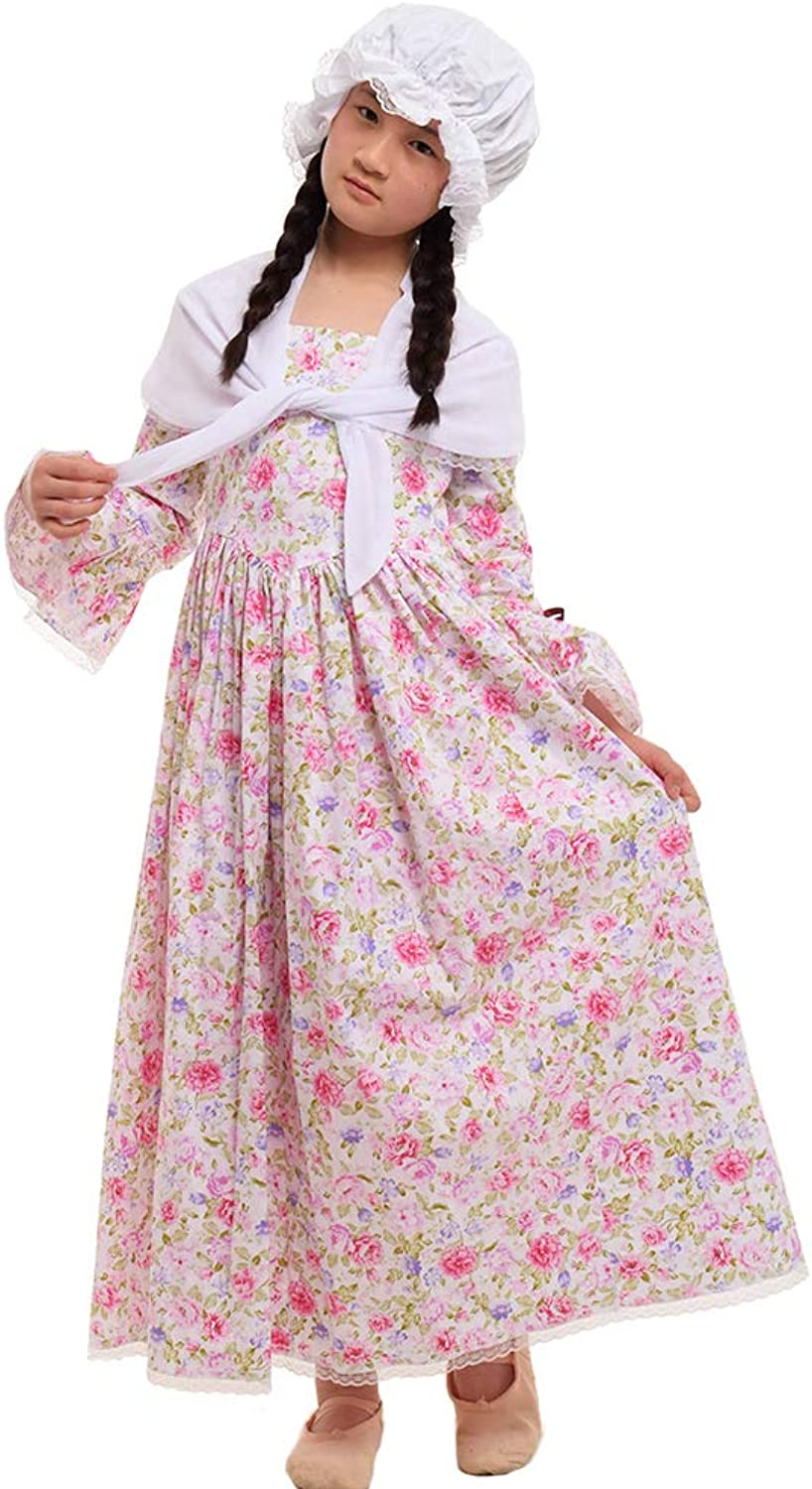 GRACEART Colonial Pioneer Girl Costume 100% Cotton
