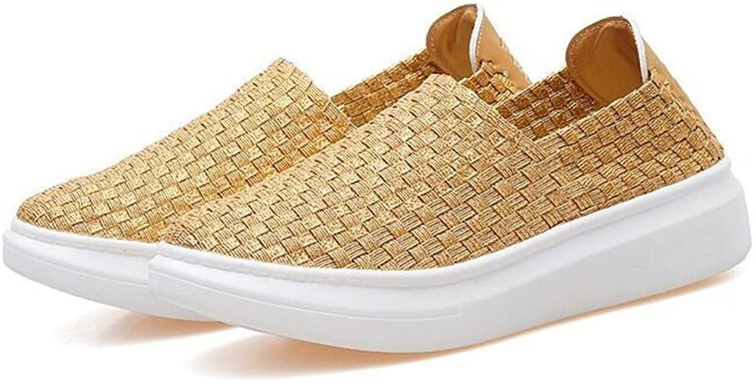 Gusha Casual shoes shoes Sneakers Woven Rocking shoes Lazy shoes Flat shoes
