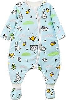 7fcc504b9bf59 Happy Cherry Couverture en Coton Epais Automne Hiver Bébé Combianison de  Nuit Pyjama Imprimé Douillette à