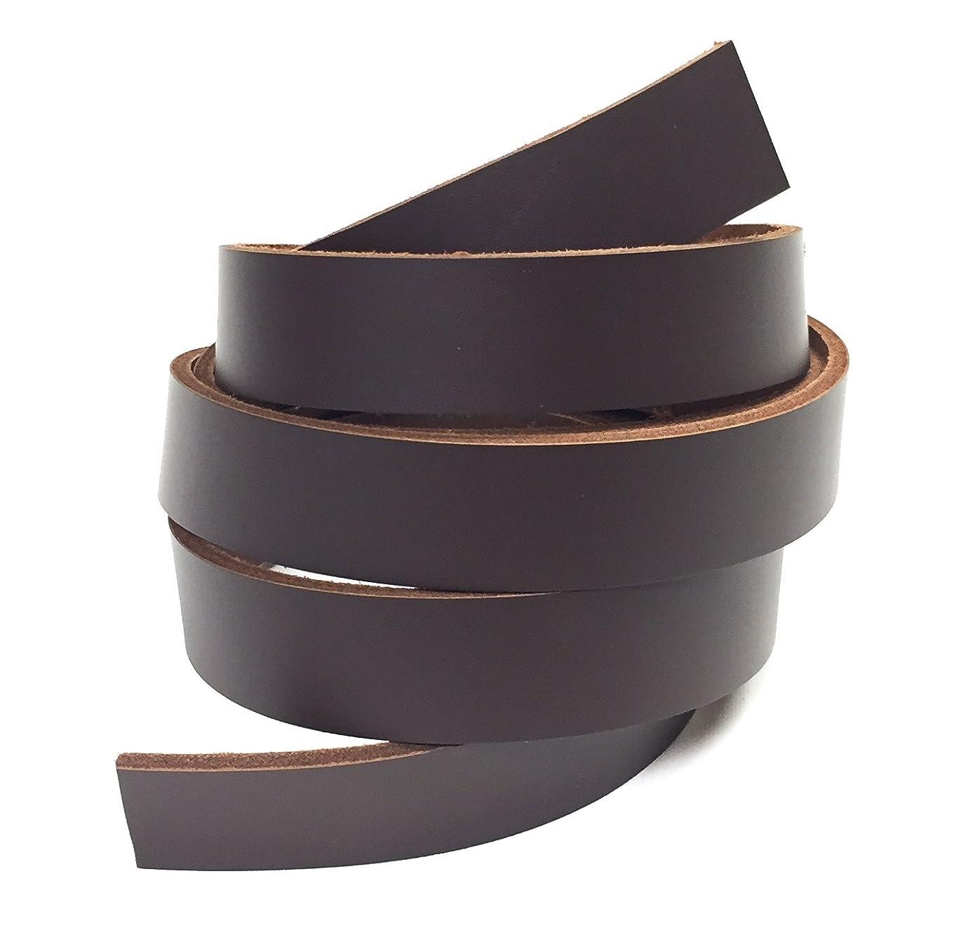 Dangerous Threads Dark Brown Latigo Leather Strip 1