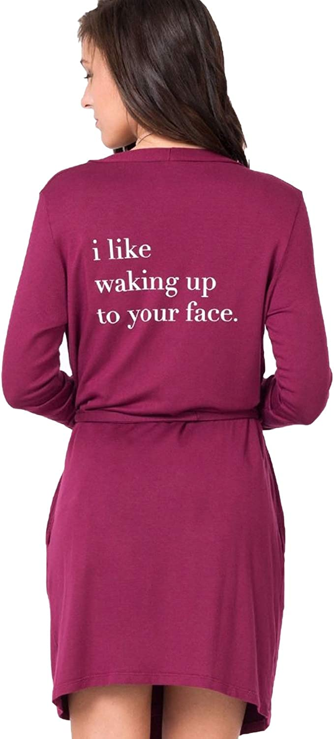 Good hYOUman Womens Your Face Robe Pomegranate XS S, M L