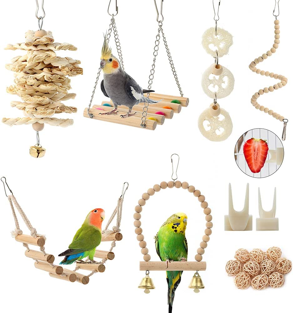 Bird Parrot Toys Swing Hanging L Toy 2021 model Award Accessories Cage Perch