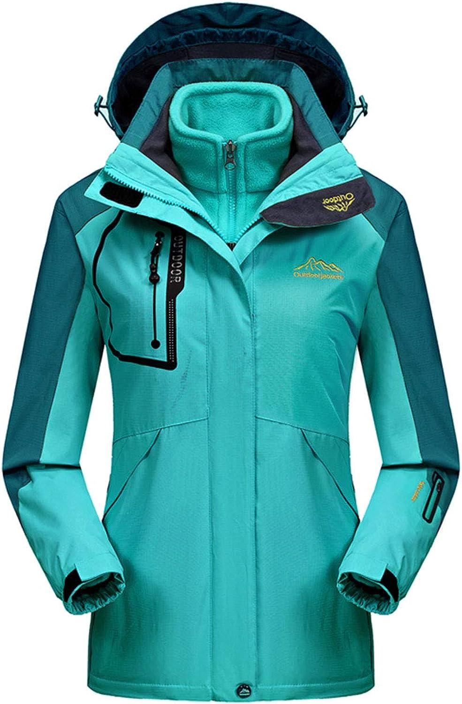ICCZANA Womens Waterproof Ski Jacket 3in1 Windbreaker Winter Coat Fleece Inner for Rain Snow Outdoor Hiking
