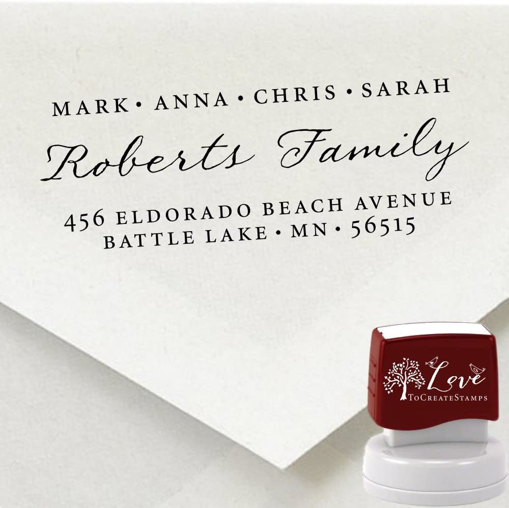 Custom Address Max 83% OFF Stamp - Personalized Self-inking 9012D Max 59% OFF