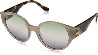 VOGUE Women's 0vo5245s Round Sunglasses, opal turtledove serigrap 53.0 mm