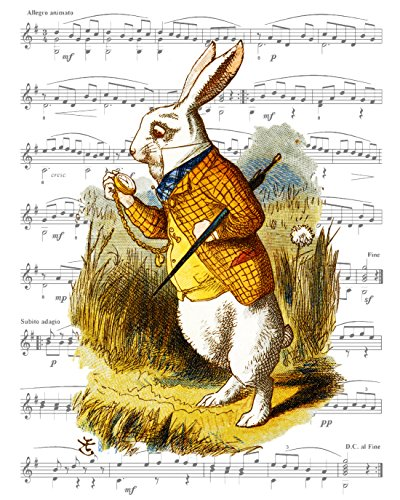 Tom Hawkins Fotodruck Alice im Wunderland, 20 x 25 cm, mit weißem Kaninchen auf Seiner Uhr