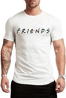 قميص EVERDESIGN الرجالي Friends Sitcom البرنامج التلفزيوني - تي شيرت بلوفر بأكمام قصيرة ورقبة دائرية مضحك