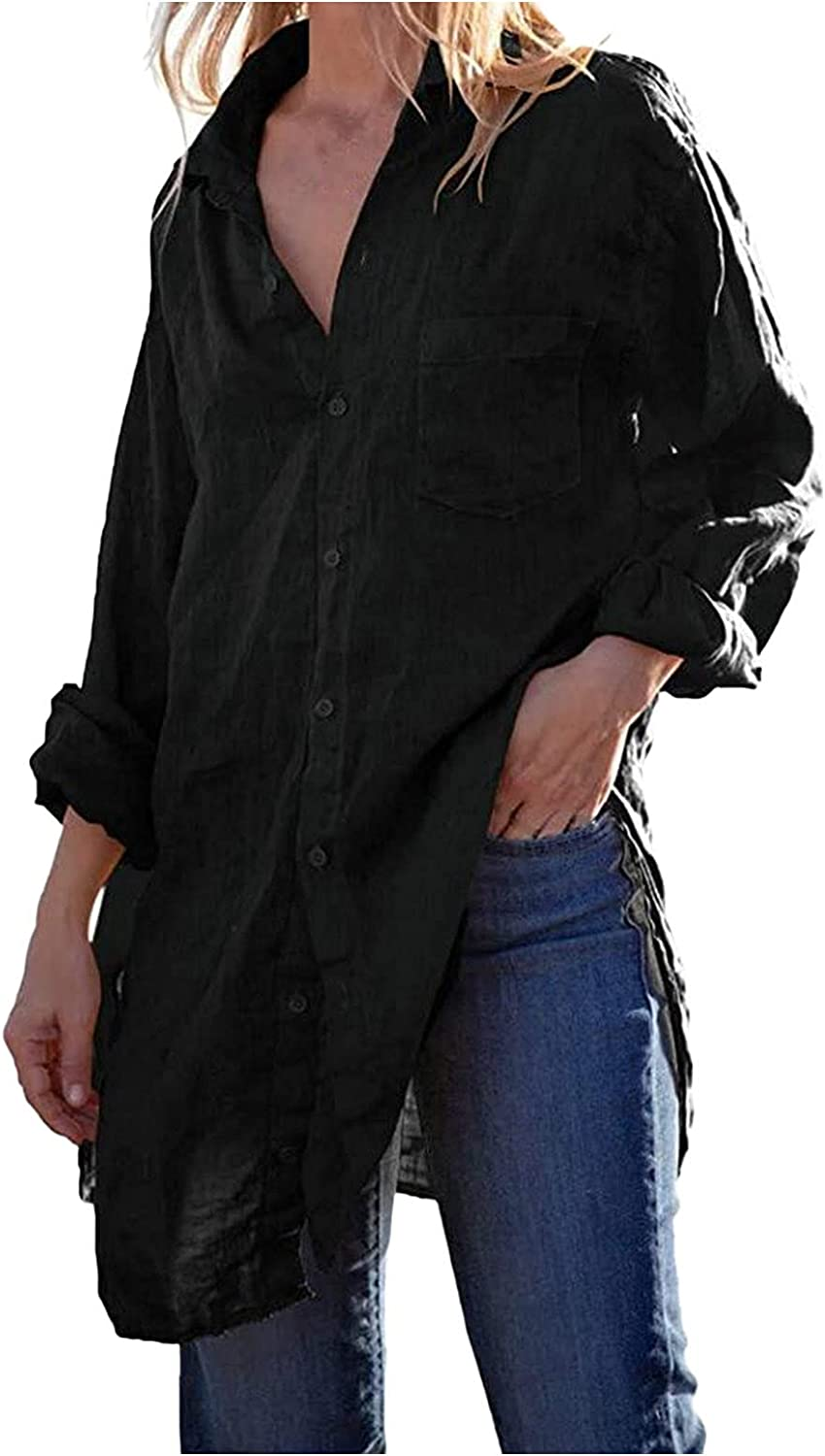 Shirt Dresses for Women Button Down Knee Plus Max 76% OFF Length S Long Cash special price Size