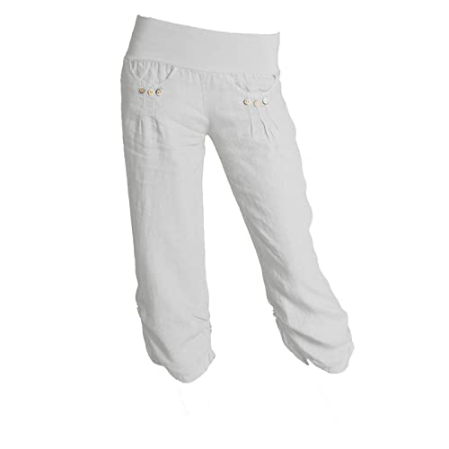wide selection of colours and designs 100% authenticated shop best sellers White Cropped Trousers: Amazon.co.uk