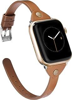 Apple Watch バンド/Apple Watch4本革バンド,Wearlizer アップルウォッチ iwatch,apple watch series 4/3/2/1対応 アップルウォッチ 4 apple watch 4 レザー バンド iwatch 本革 バンド (38mm 40mm, ブラウン)
