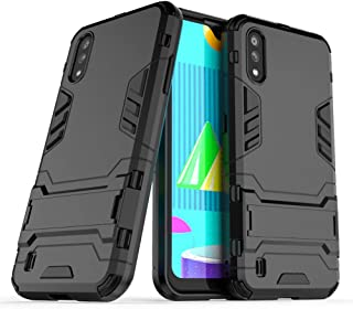 Case for Samsung Galaxy M01 (5.7 inch) 2 in 1 Shockproof with Kickstand Feature Hybrid Dual Layer Armor Defender Protectiv...