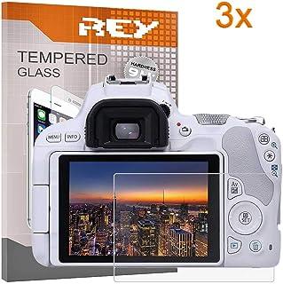 REY 3X Protector de Pantalla para Canon EOS 200D Cristal Vidrio Templado Premium