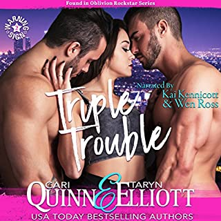 Triple Trouble audiobook cover art
