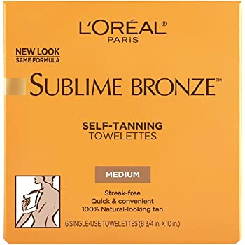 L'Oreal Paris Sublime Bronze Self-Tanning Body Towelettes, 6 Count (Pack of 3)