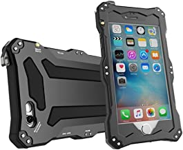 Iphone SE case, Feitenn Water resistant Shockproof Dust Proof Armor Aluminum Metal bumper Gorilla Glass Military Heavy Protection Case for Iphone 5S SE (Black)
