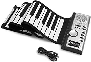 Roll Up Piano,AOLVO Digital Portable Piano Keyboard with 61 Keys,Loud Speaker & Headphone Jack and Environmental Silicone,...