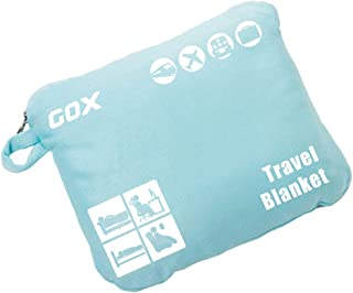 Cozy-Soft Travel Blanket Compact Lightweight Portable with Bag - Sky Blue
