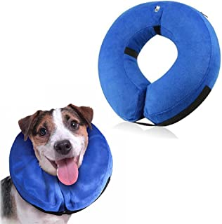 Langxian Inflatable Dog Collar, Recovery Cone, Adjustable Soft Comfortable Pet Recovery Collar After Surgery, Scratching,Stitches, Rashes Wounds