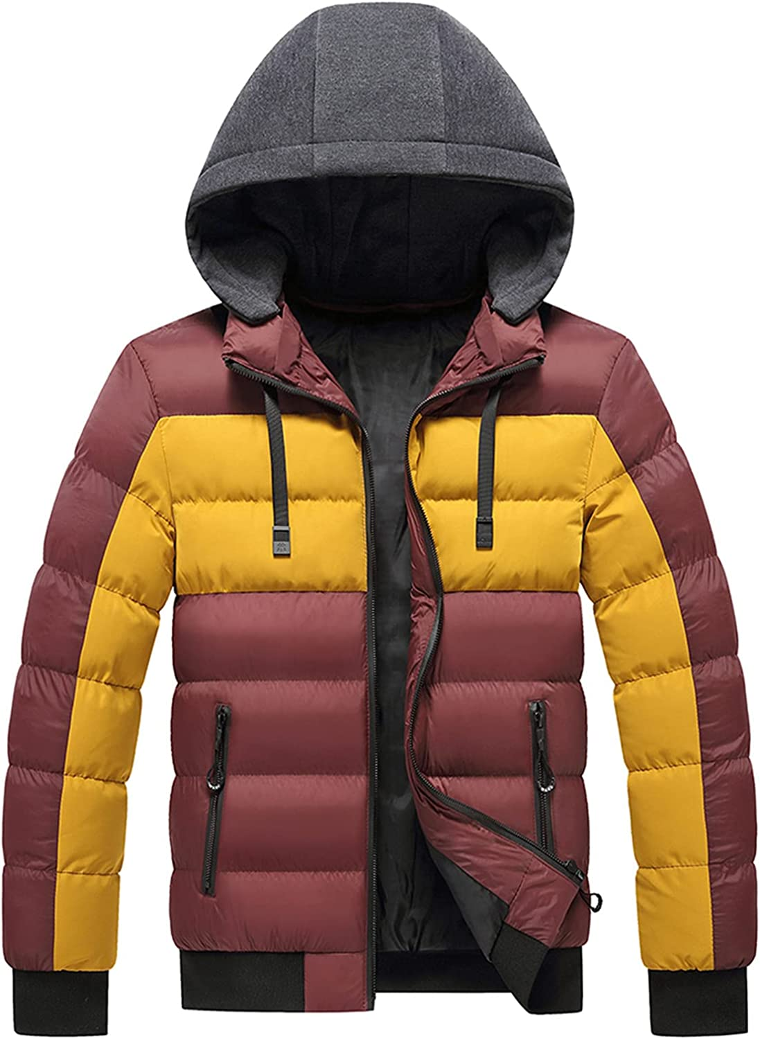 Men's Hooded Puffer Jacket Packable NEW before selling ☆ Per Coat Quilted free shipping Down