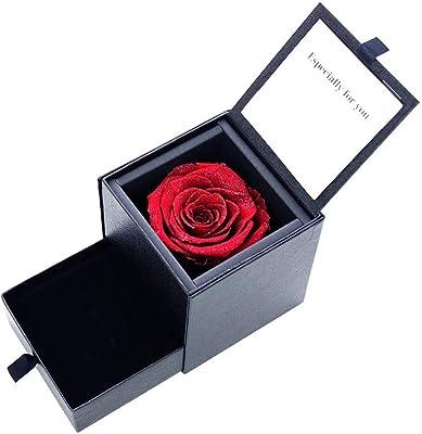 [シアーズ] Sears ジュエリーケース プリザーブドフラワー 薔薇 ダイヤモンドローズ アンティークレッド 1218-31