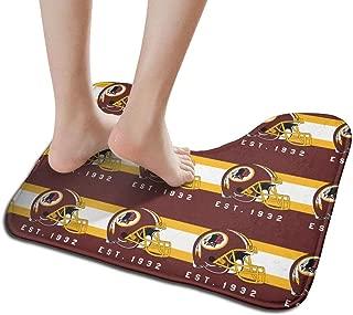 Jacoci Custom Washington Redskins Toilet Doormat Non Slip Floor Door Mat Bath Rug for Bathroom Decor Standard Size 19.3 x 15.7 Inches