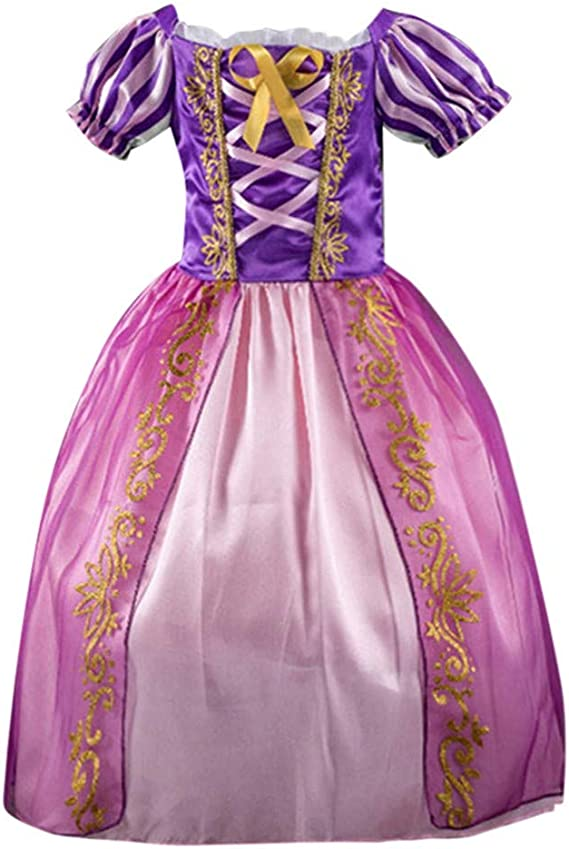 KONFA Teen Baby Girls Dress Lace Solid Color Dresses 4-8 Years Little Princess Formal Party Skirt Costume