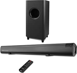 Sound Bar,Wohome 2.1 Channel TV Soundbar with Subwoofers and Wireless Bluetooth Surround Home Theater System 34-inch soundbar 5.5-inch Subwoofer 4 Speakers 120W 95dB Remote Control Model S18