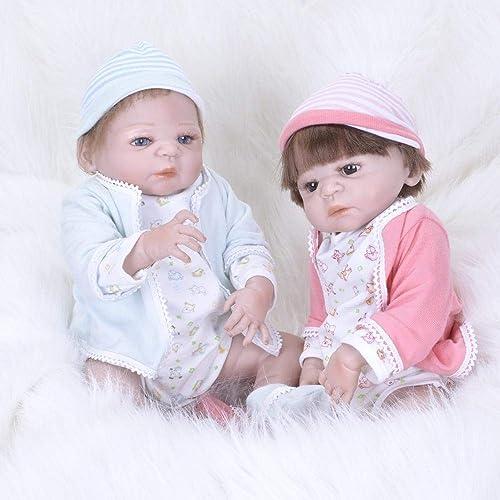 Hongge Volle Silikon Vinyl Reborn Babypuppe realistische mädchen Baby Puppen lebensecht Prinzessin Kids Toy Kinder Geburtstagsgeschenk 5cm 2 Stücke