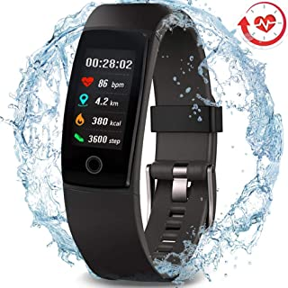 MorePro Waterproof Health Tracker,  Fitness Tracker Color Screen Sport Smart Watch, Activity Tracker with Heart Rate Blood Pressure Calories Pedometer Sleep Monitor Call/SMS Remind for Women Men