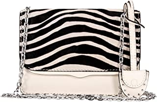 Rebecca Minkoff Zebra Print Ladies Small Antique White Leather Crossbody Bag HF17ECZX48-101