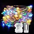Led String Lights, 10m 100 LEDs Star Starry Copper Wire Fairy String Lights for Holiday Party Wedding Christams Decoration (IP65)