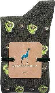 Giraffe Cool Calcetín para Hombre de Color Verdes aguacates