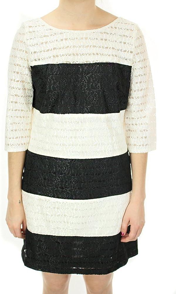 Jessica Simpson Women's Colorblock Striped Lace Dress