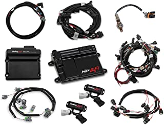 NEW HOLLEY TI-VCT HP EFI ECU KIT & TI-VCT CONTROLLER KIT WITH POWER HARNESS,MAIN HARNESS,COIL HARNESS,INJECTOR HARNESS & SENSORS,NTK O2 SENSOR,COMPATIBLE WITH 2011-2012 FORD COYOTE ENGINES