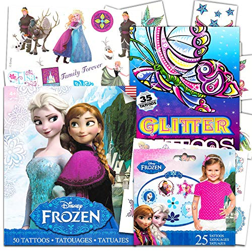 Disney Frozen Temporary Tattoos Dress Up Costume Set -- Over 110 Tattoos, Includes Glitter Tattoos!