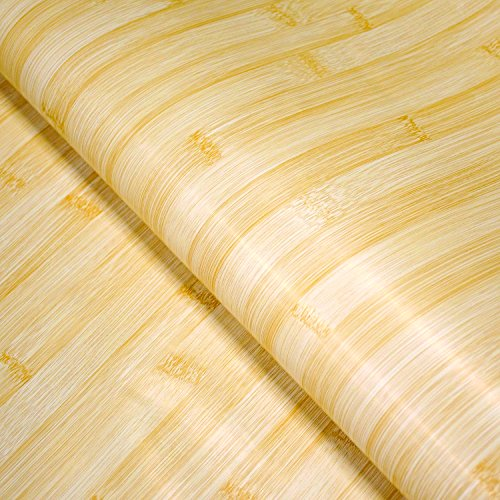 Craftopia Adhesive Craft Bamboo Vinyl Paper roll for Kitchen Bathroom countertop Upgrades, Cover cabinets Furniture Walls with Waterproof Peel and Stick Contact Wallpaper