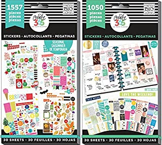 Create 365 Happy Planner Sticker Value Pack Bundle with Brilliant Year and This Colorful Life (Set of 2 Items)