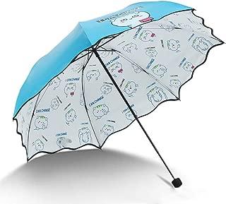 YQRYP Mini Travel Sun Umbrella &rain Umbrella - Light Compact Parasol with UV Protection for Umbrella Windproof Umbrella, Golf Umbrella (Color : Blue)