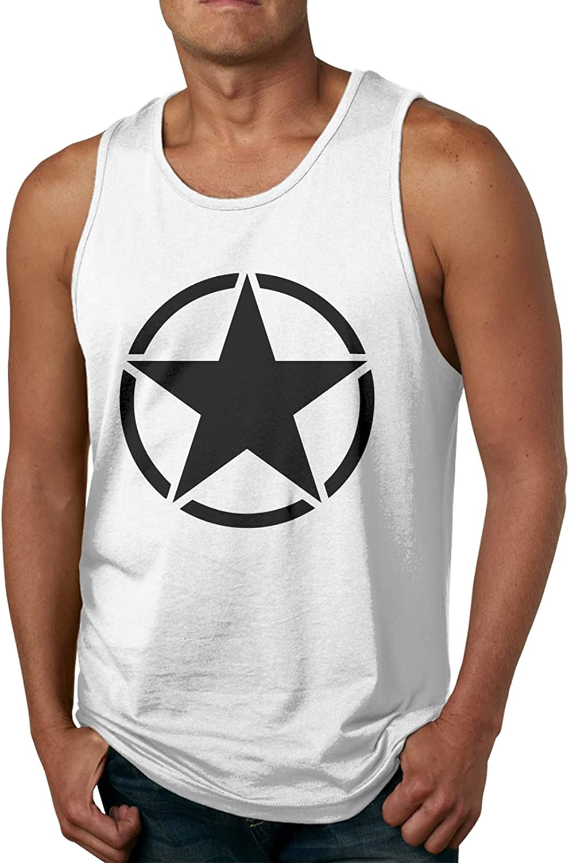Us Army Star Flag4 Tank Top Boy Man's Dry Fit Sleeveless Tops