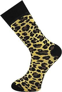 Calcetines tobilleros para hombre con estampado de leopardo, tamaño 6-11