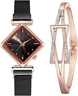 Ladies Simple Fashion Personality Diamond Watch Bracelet Fashion Combination Set