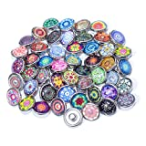 Soleebee 30pcs Mezclado Aleatorio de Aluminio 12mm Insight guías Snap Botones encantos de la joyería